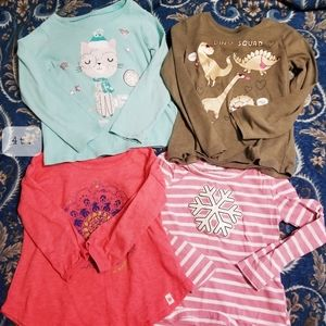 🌿4 winter shirts girls( 4t )🌿